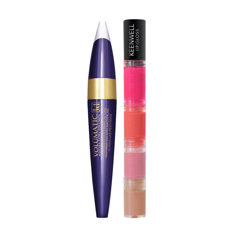 KEENWELL Set Mascara 3x1 + Glosses Tower